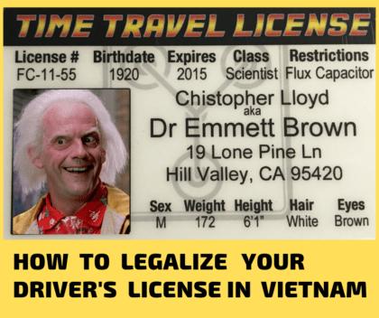 driver license in Vietnam